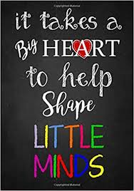 teacher appreciation gift it takes a big heart notebook or