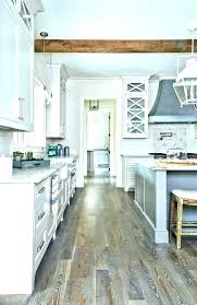 adorable wood floor white cabinets