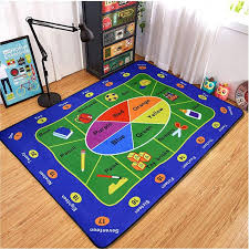 5 X7 English Words Vocabulary Educational Kids Rug Vibrant Children Playroom Classroom Area Rug