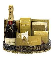 moet celebration chagne gift basket