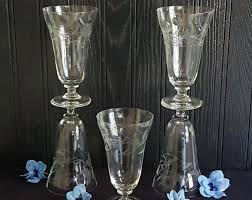 vintage glassware love clear for