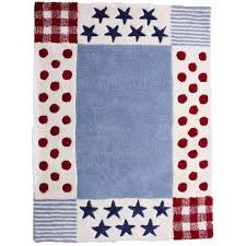 Boys Blue Red Star And Polka Dot Rug Fun Rooms For Kids