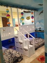 H O W C U T E We Had A Custom Bedroom Beach Shack Built Like This For Nix But I Love The Idea Of A Fron Beach Themed Bedroom Kid
