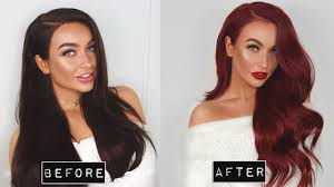 how to go from dark brown to red at