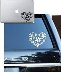 Amazon Com Animal Lover Adopt Heart Dog Cat Love Pet Paw Vinyl Decal Sticker Car Window Laptop Wall Mac 5 5 Inches White Arts Crafts Sewing
