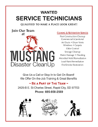employment mustang disaster cleanup