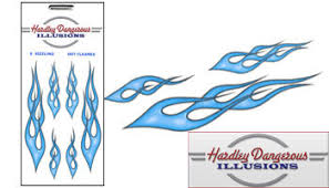 Vehicle Graphics Car Decals Stickers Blue Vinyl Flame Car Decals