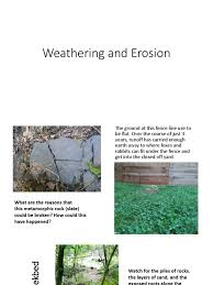 Weathering And Erosion Natural Environment Geology