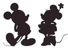 Mickey And Minnie Silhouette Vinyl Decal For Walls And Windows