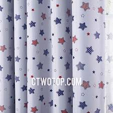 Fancy Fun Blackout Kids Boys Room Royal Blue Red Star Curtains