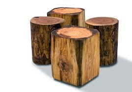 wood trunk table rustic storage coffee