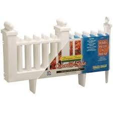 Emsco 12 In Resin Colonial Garden Fence 10 Pack 2095hd The Home Depot Colonial Garden Plastic Picket Fence Home