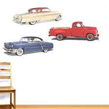 Winston Porter 3 Piece Old Cars Wall Decal Set Wayfair