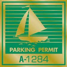 Parking Permit Window Stickers Green Gold Foil Boat Package Of 100 Hd Supply