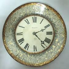 ansonia trademark decoupage glass clock