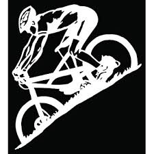 Amazon Com Mountain Biking Sport Car Truck Window Bumper Vinyl Graphic Decal Sticker 6 Inch 15 Cm Tall Gloss White Color Automotive