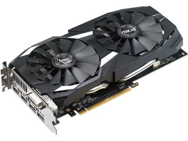 Image result for ASUS Radeon RX 580 O4G Dual-Fan OC Edition GDDR5 DP HDMI DVI VR Ready AMD Graphics Card (DUAL-RX580-O4G)