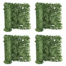 39 H Artificial Faux Ivy Leaf Privacy Fence Screen Decor Panels Outdoor Hedge X4 For Sale Online