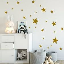 Star Wall Decal Grey Set Of 35 2 5 Cm White Etsy