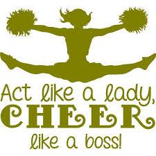 Cheerleading Wall Decal Act Like A Lady Cheer Like A Boss Cheerleader Girl S Bedroom Sticker 20 X20 Walmart Com Walmart Com