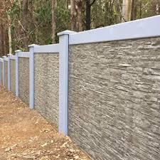 Concrete Block Fence Houzz