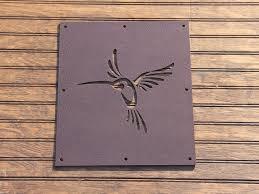 Hummingbird Steel Insert Window For Wood Gate Garden Gate Etsy