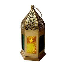 golden moroccan hanging lantern t light