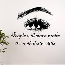 Harriet Bee Eye Cosmetic Make Up Art Wall Decal Reviews Wayfair
