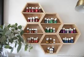 diy essential oil wall storage