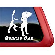 Beagle Dad Large Decal Only 1 Left Dog Park Publishing