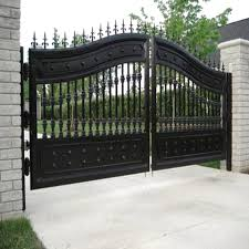 Anself Spear Top Double Driveway Gates Door Fence Gate Iron Metal Gate 300 X 225 Cm