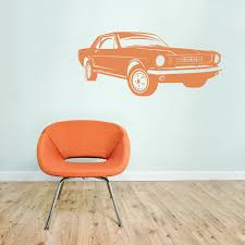 Classic Mustang Wall Decal Ford Mustang Silhouette Sticker