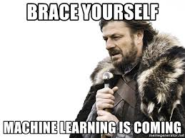 Ned Stark, do seriado Game of Thrones, dizendo 'Se preparem, Machine Learning está chegando'