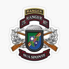 75th Ranger Regiment Army Rangers Special Edition Over Blue Velvet Sticker By Captain7 Redbubble
