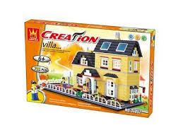 House Building Blocks Brick Creation Villa Picket Fence Basketball Court Wange Ebay