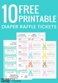 10 free printable diaper raffle tickets