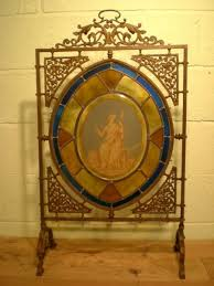 original victorian bronze stained glass