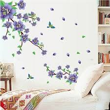 Wall Stickers Wall Decals Natural Purple Plum Blossom Pvc Wall Stickers Wall Decals For Bedroom Wall Stickers Living Room Home Decor