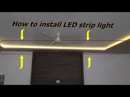 how to install led strip light you