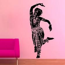 Zooyoo Indian Woman Wall Sticker Gym Dance Wall Decal Home Decor Art Vinyl Living Room Bedroom Decoration Bedroom Decor Home Decordance Wall Decals Aliexpress