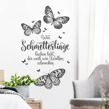 Wall Decal Saying Quotes Who Hears Butterflies Laughing The Etsy