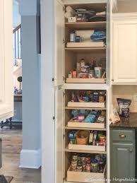 installing sliding shelves in a pantry