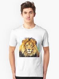 "Lion head digital painting"" T-shirt by adriana-holmes | Redbubble"