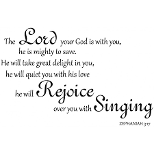 Zephaniah 3 17 Scripture Bible Wall Verse The Lord Your God Is With