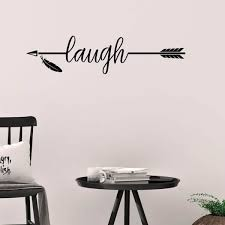 Shop Laugh With Arrow Vinyl Wall Decal Wall Decor Overstock 20166281
