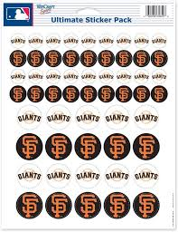Amazon Com Wincraft Mlb San Francisco Giants Vinyl Sticker Sheet 8 5 X 11 Sports Fan Wall Decor Stickers Sports Outdoors