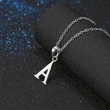 uni necklaces letter pendant design