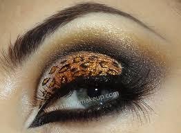 cheetah inspired eye makeup saubhaya