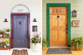 exterior wood door decorating with