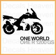 Bmw One World One R1200gs Logo Sticker Car Bumper Window Motorcycle Decal Ebay
